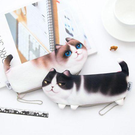 جامدادی پارچه ای طرح گربه