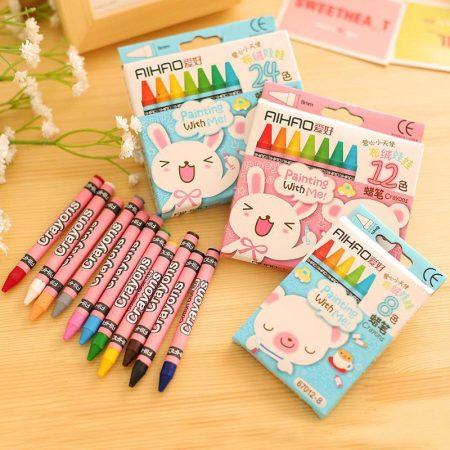 مداد شمعی 8 ، 12 و 24 رنگ AIHAO