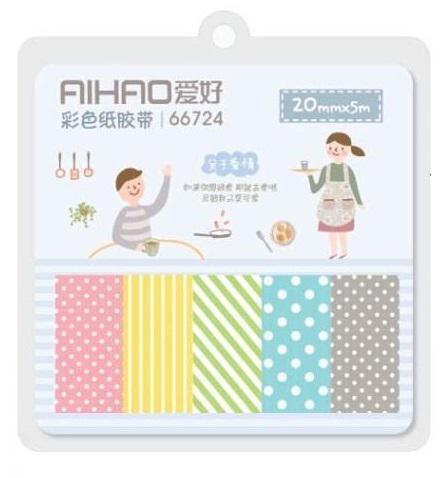 ست چسب واشی 5 عددی کاغذی Aihao مدل 66724