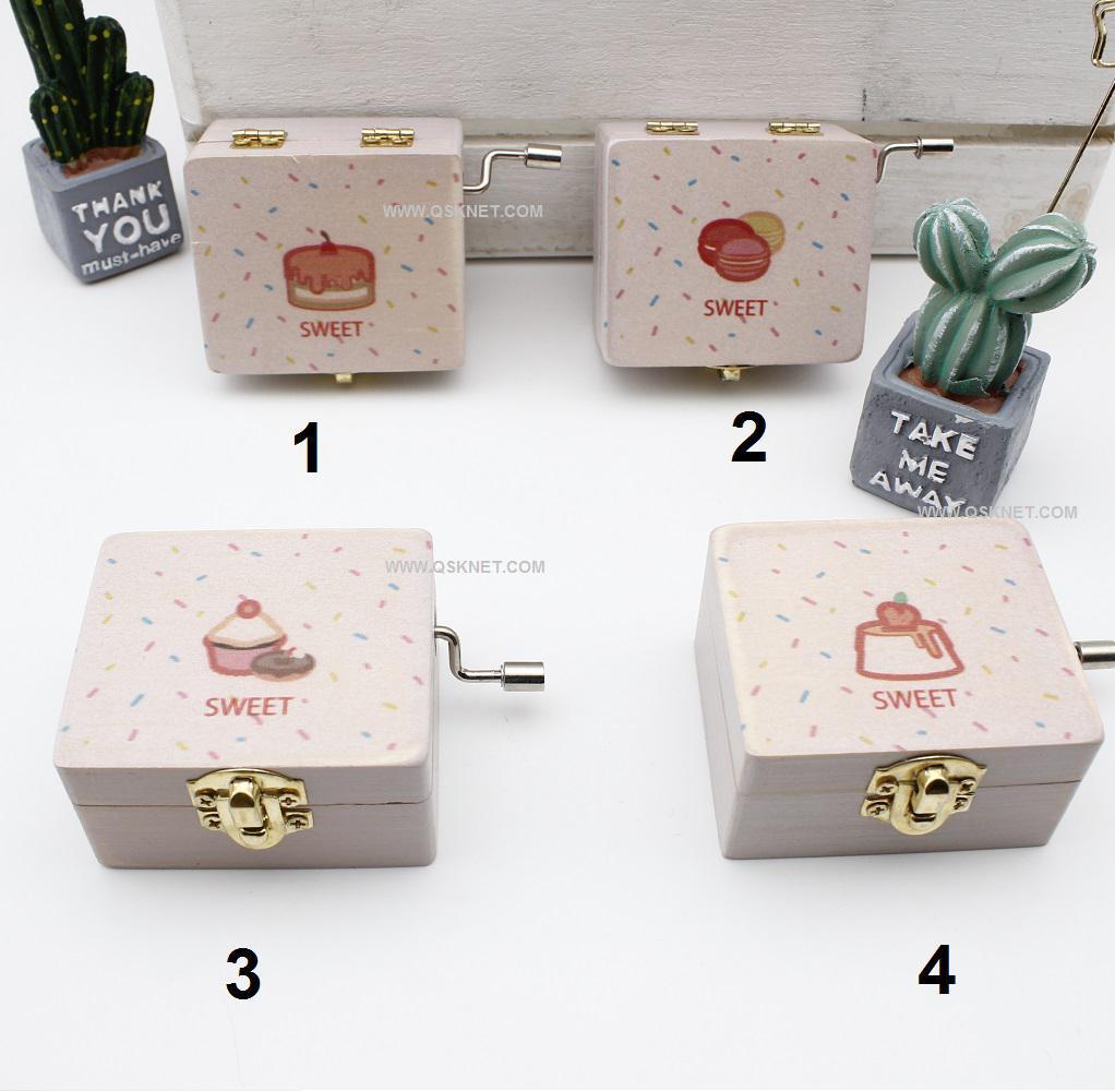 جعبه موزیکال دستی طرح شیرینی