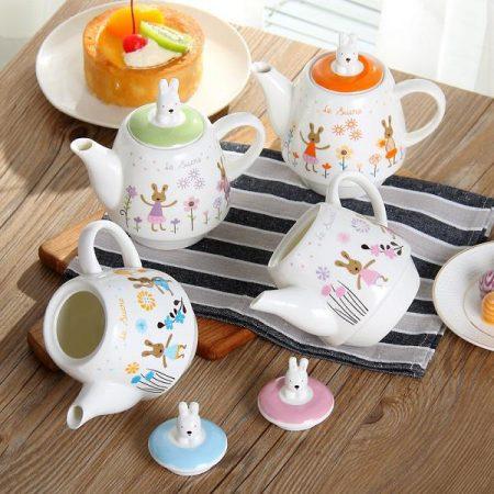 ست سه تیکه چایی خوری طرح خرگوش