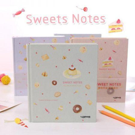 دفتر با جلد محکم و برگه های طرحدار LENWA طرح شیرینی