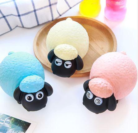 قمقمه شیشه ای با رویه نشکن طرح گوسفند تپل
