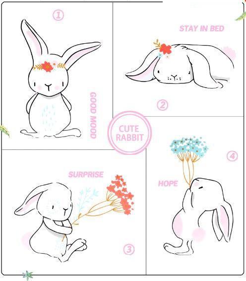بشقاب فانتزی سرامیکی طرح خرگوش زیبا