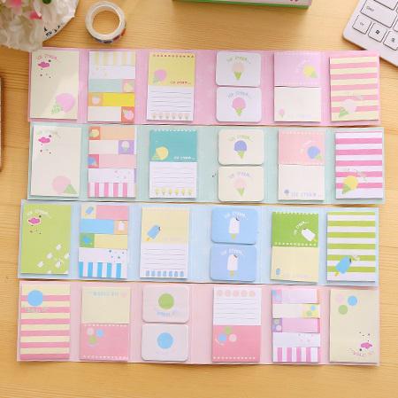 ست استیک نوت دفترچه ای طرح بستنی