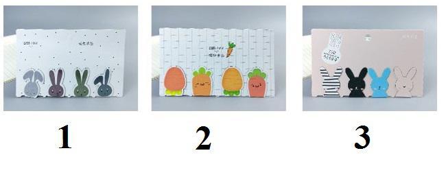 ست بوک مارک مگنتی چهار عددی طرح خرگوش و هویج