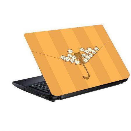 اسکین و برچسب پشت لپ تاپ طرح گربه و پرنده ها