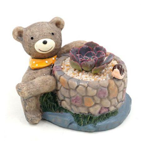 گلدان rogo پلی استر طرح خرس