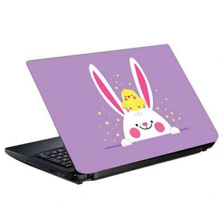 اسکین و برچسب پشت لپ تاپ طرح خرگوش و جوجه