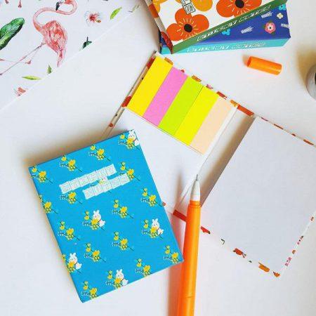 ست استیک نوت دفترچه ای طرح گل