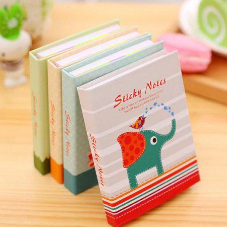 ست استیک نوت دفترچه ای طرح حیوانات