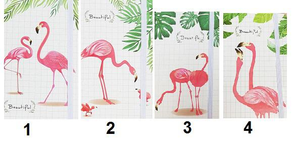دفترچه طرح فلامینگو با لبه طرحدار