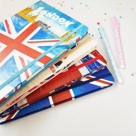 دفتر و دفترچه خط دار طرح انگلیس