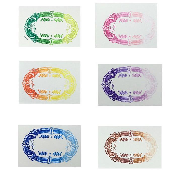 استمپ مستطیلی چهار رنگ