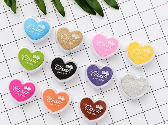 استمپ ده رنگ طرح قلب