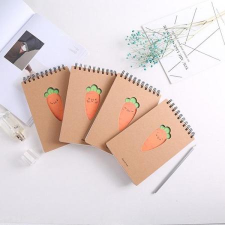 دفترچه سیمی 80 برگ طرح هویج