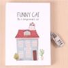 دفتر قفل دار طرح Funny cat