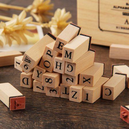 ست حروف کوچک انگلیسی به همراه استمپ