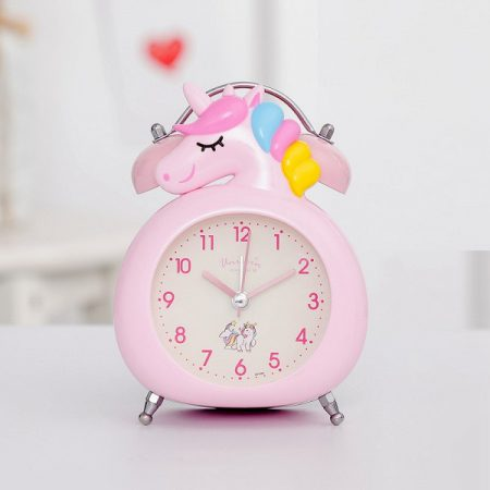 ساعت رومیزی زنگ دار یونیکورن سایز کوچک