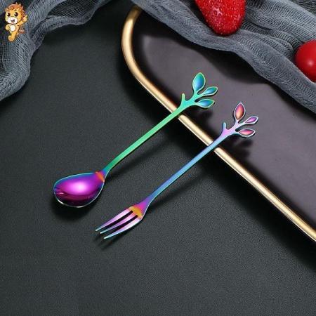 قاشق، چنگال و چاقو فلزی هفت رنگ