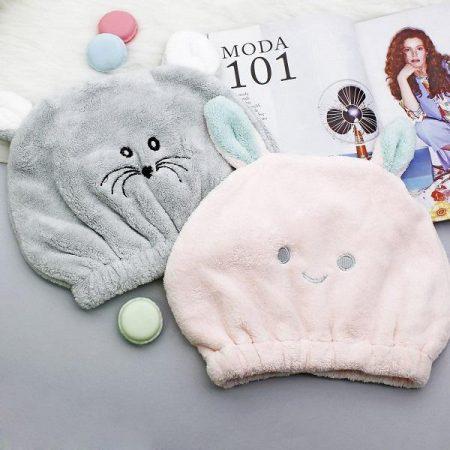 کلاه حمام طرح موش و خرگوش