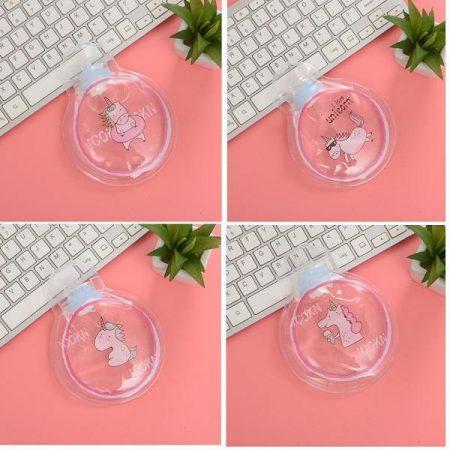 کیسه آبگرم شفاف طرح یونیکورن ۱