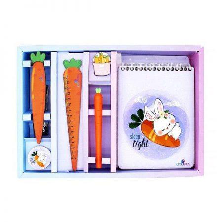 ست ۷ تکه لوازم التحریر طرح خرگوش و هویج