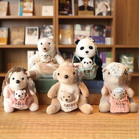 عروسک حیوانات نانو طرح مادر و بچه HWD