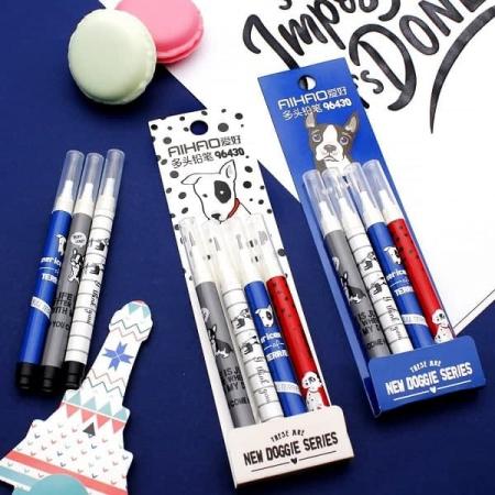 ست 4 عددی مداد فشنگی Aihao طرح سگ