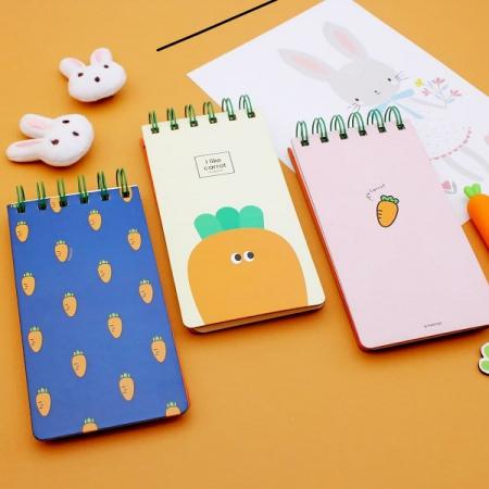 دفترچه سیمی YIZHENG طرح هویج