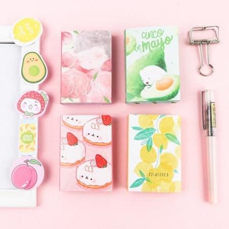 ست استیک نوت دفترچه ای طرح میوه