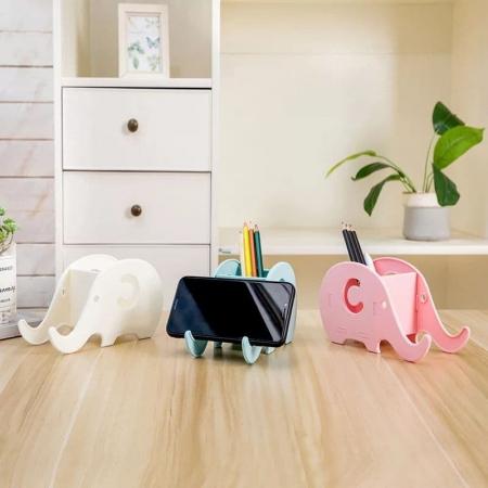 جاقلمی و استند موبایل رومیزی طرح فیل