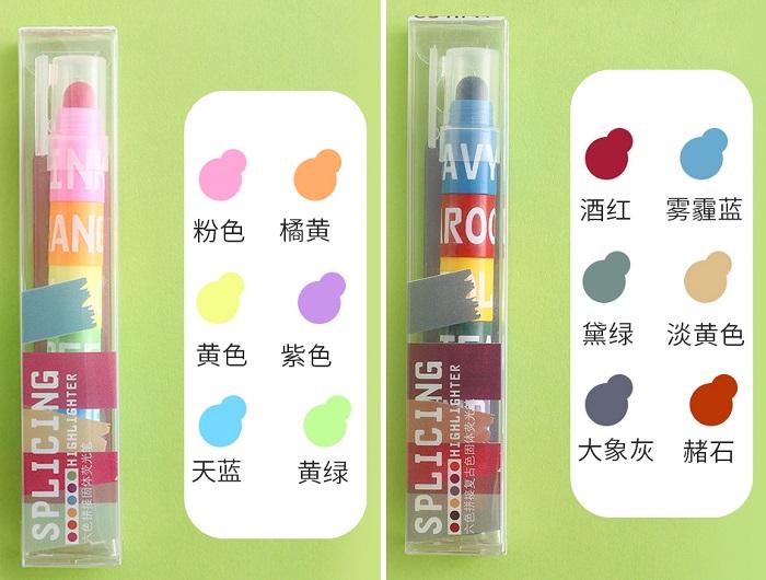 هایلایت 12 رنگ ژله ای متصل شونده (2)