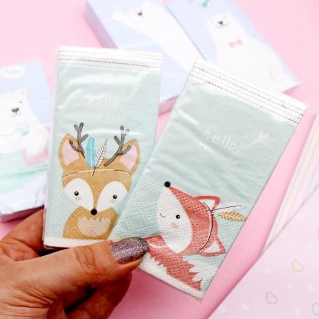 دستمال کاغذی طرحدار 10 عددی طرح حیوانات