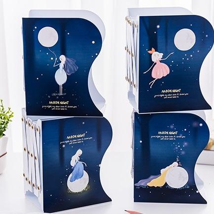 نگهدارنده فلزی کتاب آکاردئونی طرح Moon Night