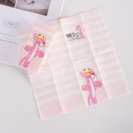 دستمال کاغذی طرحدار 10 عددی طرح پلنگ صورتی