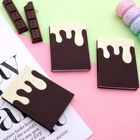 دفترچه فانتزی عطری طرح ویفر شکلاتی