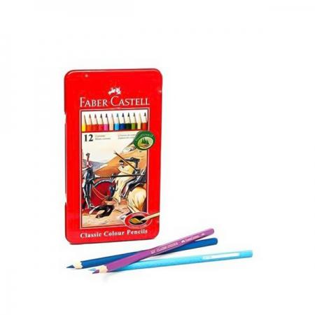 مداد رنگی 12 رنگ جعبه فلزی فابر کاستل مدل Classic