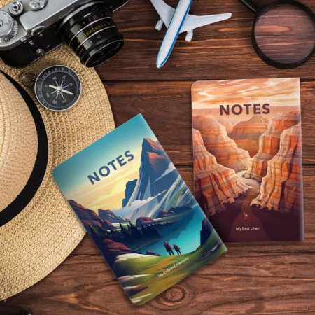 دفترچه ته دوخت 25 برگ تاپیک طرح کوهستان