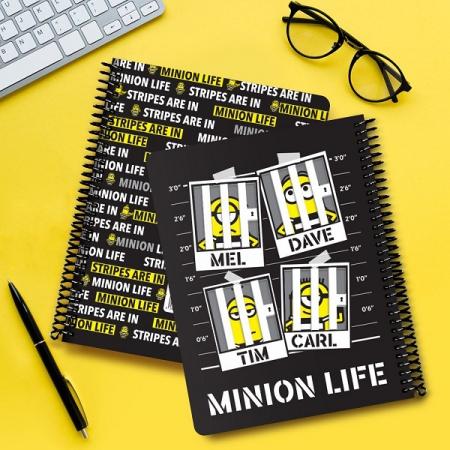 دفتر دوجلدی طرح MINION LIFE