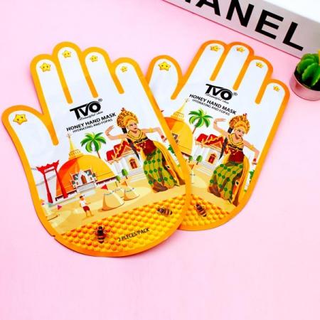 ماسک دست ورقه ای روشن کننده و آبرسان عسل Tvo (1)
