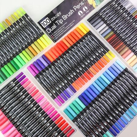 ماژیک و روان نویس حرفه ای دوسر100 رنگ