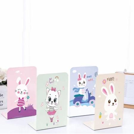 نگهدارنده فلزی کتاب طرح گربه و خرگوش
